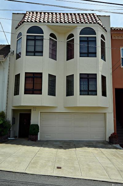 San Francisco County Multi Family Home For Sale: 514 516 41st Ave
