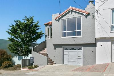 San Francisco CA Single Family Home For Sale: $849,000