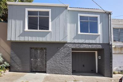 San Francisco County Single Family Home For Sale: 133 Grand View Ave