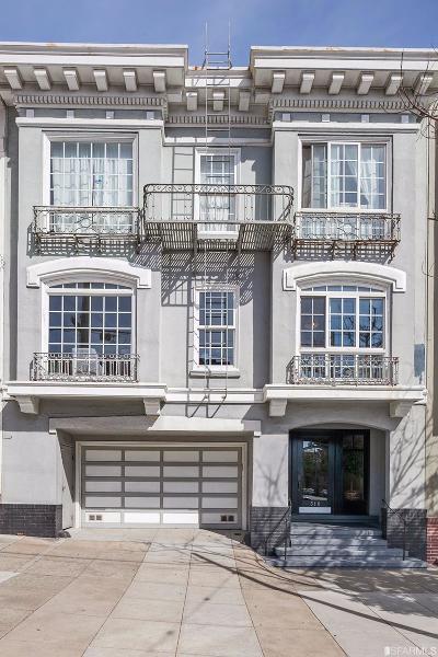 San Francisco County Condo/Townhouse For Sale: 318 Arguello Blvd #1
