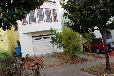 San Francisco CA Single Family Home For Sale: $880,000