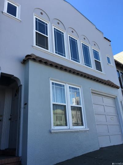 San Francisco County Multi Family Home For Sale: 2343 19th Ave