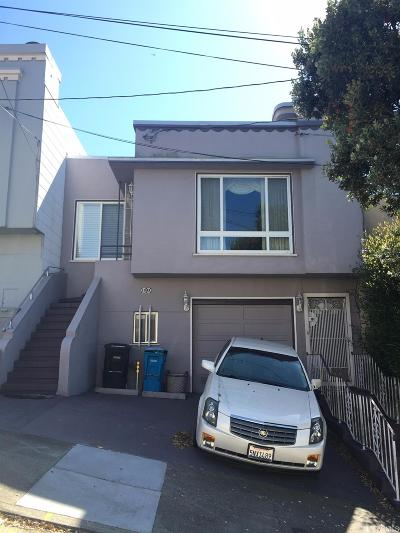 San Francisco County Single Family Home For Sale: 621 Shields St