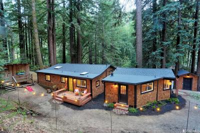 Sonoma County Single Family Home For Sale: 4350 Cazadero Hwy