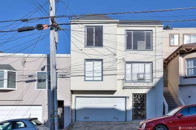 San Francisco County Multi Family Home For Sale: 542 544 29th Ave