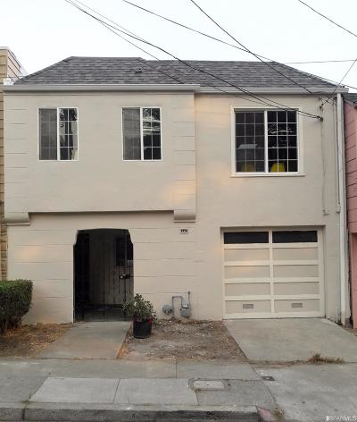 San Francisco CA Single Family Home For Sale: $749,000