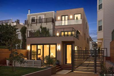 San Francisco Single Family Home For Sale: 2829 2831 Baker St