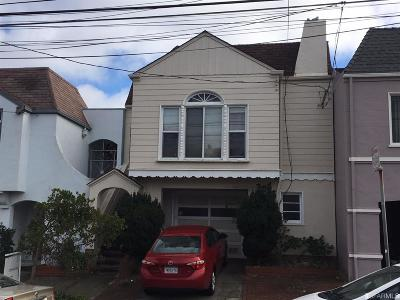 San Francisco Single Family Home For Sale: 1478 34th Ave