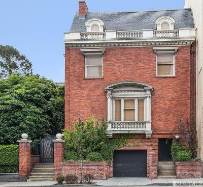 San Francisco Single Family Home For Sale: 1735 Franklin St