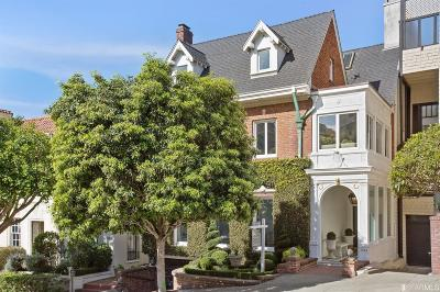 San Francisco Single Family Home For Sale: 2624 Green St