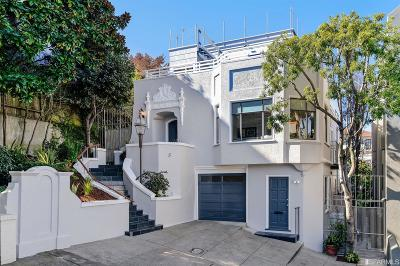 San Francisco Single Family Home For Sale: 5 North View Ct