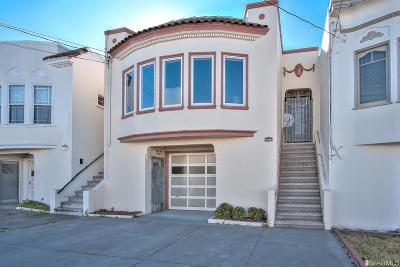 San Francisco Single Family Home For Sale: 1449 26th Ave