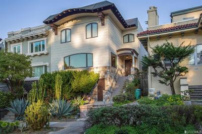 San Francisco Single Family Home For Sale: 540 Funston Ave