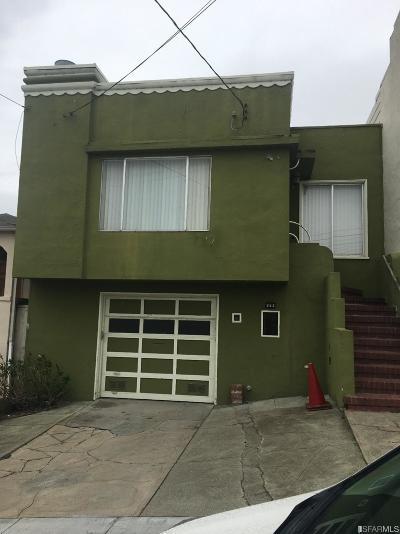 San Francisco Single Family Home For Sale: 363 Head St
