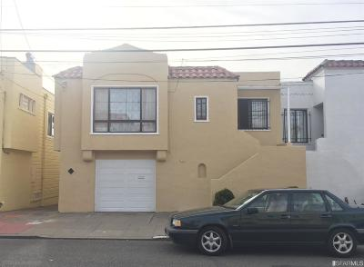 San Francisco CA Single Family Home For Sale: $900,000