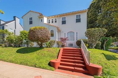 San Francisco Single Family Home For Sale: 95 Junipero Serra Blvd