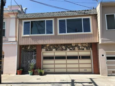 San Francisco Single Family Home For Sale: 524 Brussels St