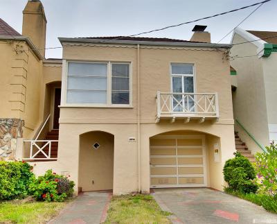 San Francisco Single Family Home For Sale: 1459 41st Ave