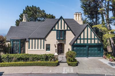 San Francisco Single Family Home For Sale: 210 Casitas Ave