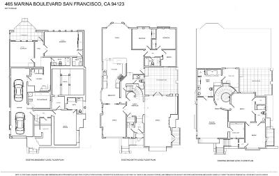 San Francisco Single Family Home For Sale: 465 Marina Blvd