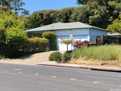 Marin County Single Family Home For Sale: 563 E Blithedale Ave