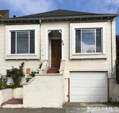 San Francisco Single Family Home For Sale: 579 Moscow St