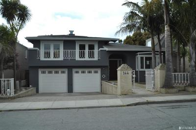 San Francisco Single Family Home Act Cont Show: 144 Stonecrest Dr