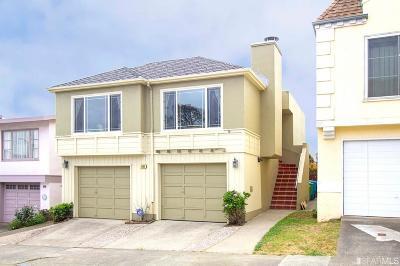 San Francisco Single Family Home For Sale: 541 Wildwood Way