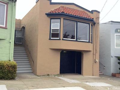 San Francisco Single Family Home For Sale: 1965 20th Ave