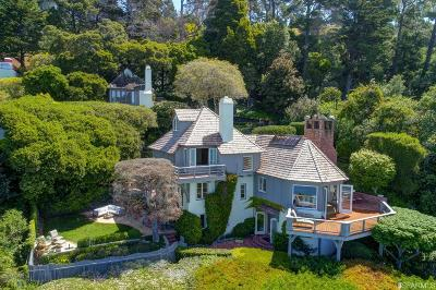 Marin County Single Family Home For Sale: 35 Belvedere Ave