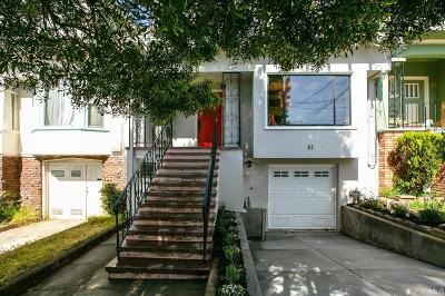 San Francisco Single Family Home For Sale: 61 Curtis St
