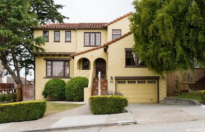 San Francisco Single Family Home For Sale: 350 Brentwood Ave