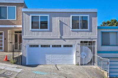 San Francisco Single Family Home For Sale: 39 Minerva St