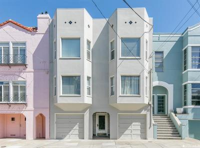 San Francisco Multi Family Home For Sale: 2250 Greenwich St
