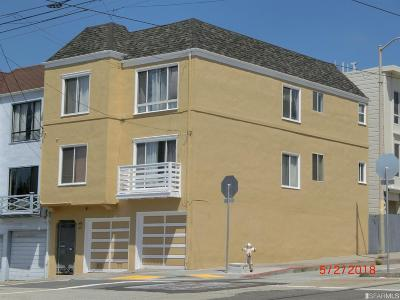 San Francisco Multi Family Home For Sale: 1394 1396 34th Ave