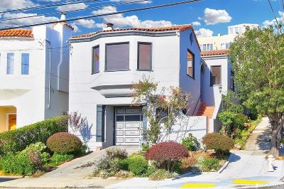 San Francisco Single Family Home For Sale: 1140 Lawton St