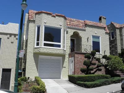 San Francisco Single Family Home For Sale: 19 Pinehurst Way