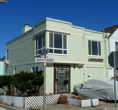 San Francisco Single Family Home For Sale: 2195 42nd Ave