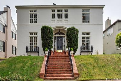San Francisco Single Family Home For Sale: 275 Santa Clara Ave
