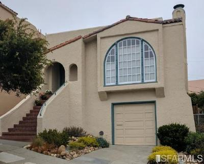 San Francisco Single Family Home For Sale: 88 Keystone Way