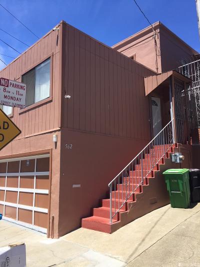 San Francisco Single Family Home For Sale: 562 Leland Ave