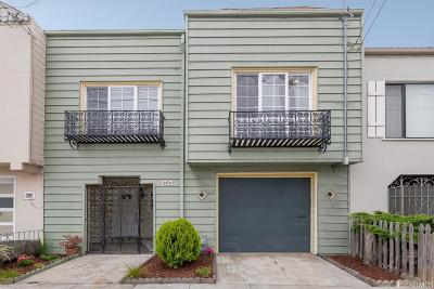 San Francisco Single Family Home For Sale: 1327 48th Ave