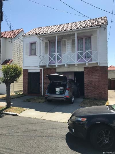 San Francisco Single Family Home For Sale: 177 Desmond St