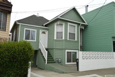 San Francisco Single Family Home For Sale: 2035 San Jose Ave