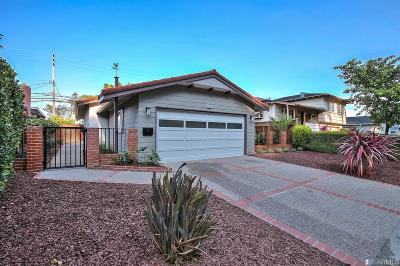 San Bruno Single Family Home For Sale: 1700 Crestwood Dr