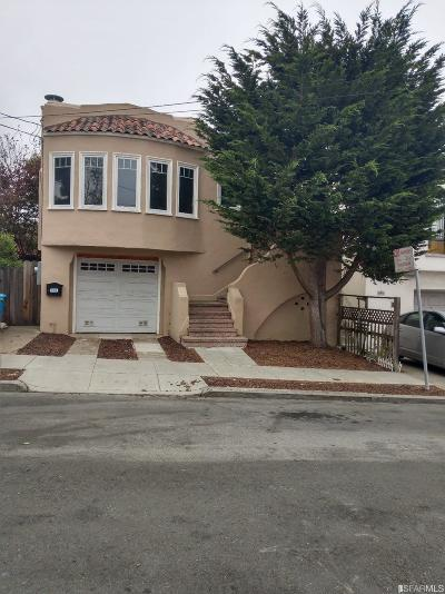 San Francisco Single Family Home Act Cont Show: 125 Chester Ave