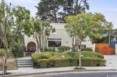 San Francisco Single Family Home For Sale: 255 Corona