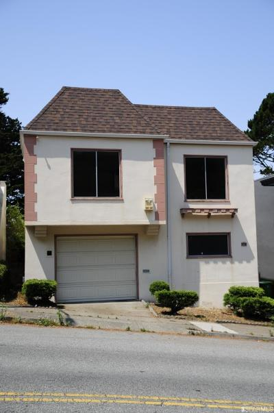 San Francisco Single Family Home For Sale: 347 Panorama Dr