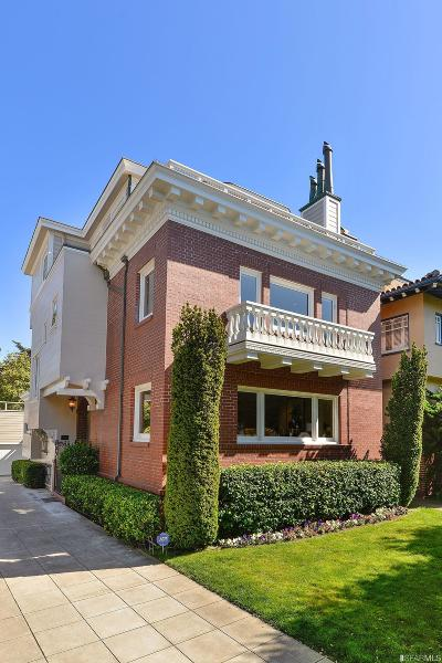 San Francisco Single Family Home For Sale: 34 25th Ave