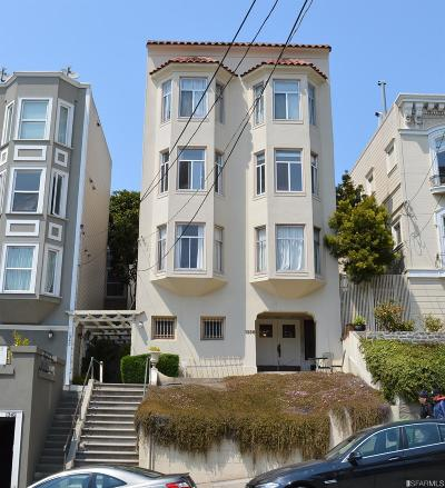 San Francisco Multi Family Home For Sale: 1336 Green St